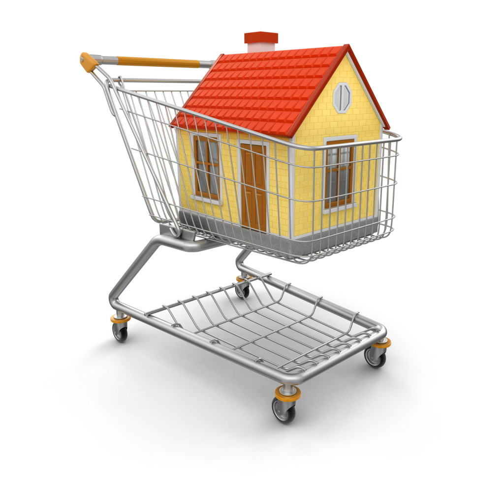 Shopping Cart and House (clipping path included)