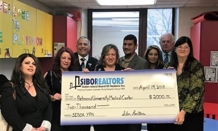 Staten Island Board of Realtors Donates $2,000 for RUMC's Pediatric Oncology Unit