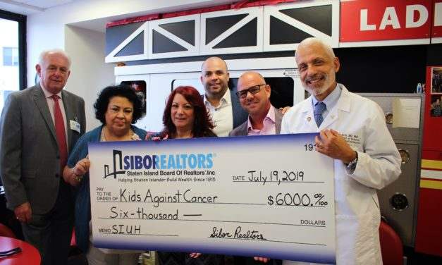 Staten Island Realtors Donate $15K  for Children with Cancer